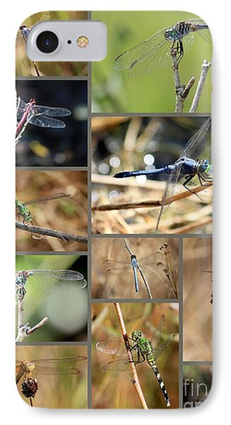 Dragonfly Collage Phone Case by Carol Groenen