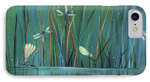 Impressionism iPhone 7 Case - Dragonfly Diner by Carol Sweetwood