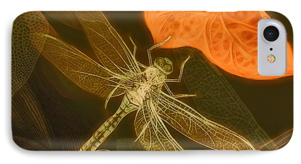 IPhone Case featuring the painting Dragonfly by Douglas MooreZart