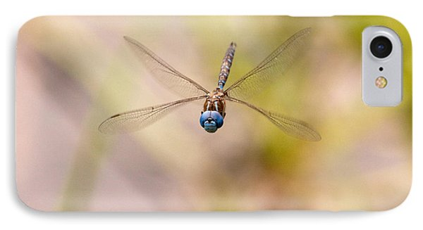 IPhone Case featuring the photograph Dragonfly In Flight by Peggy Collins