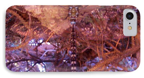 Dragonfly In Spruce IPhone Case by Cathy Long