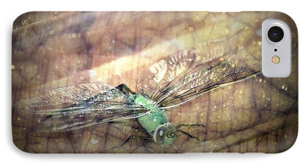 Dragonfly Leap Of Faith Phone Case by Dawna Morton