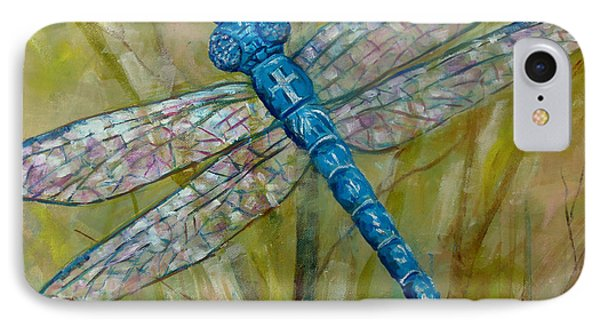 Dragonfly IPhone Case by Lou Ann Bagnall