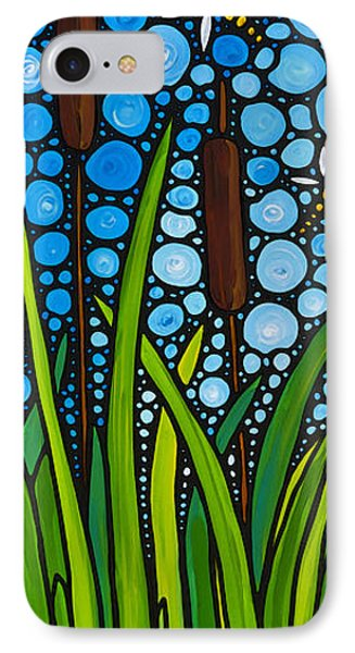 Dragonfly Pond By Sharon Cummings IPhone Case