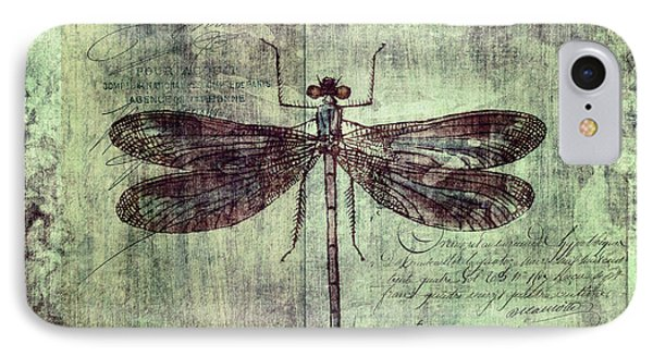 Dragonfly IPhone Case by Priska Wettstein