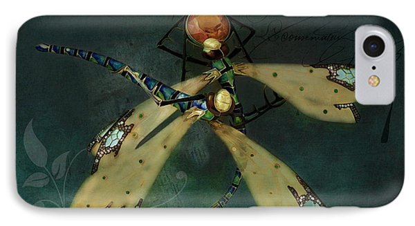 Dragonfly Romance IPhone Case
