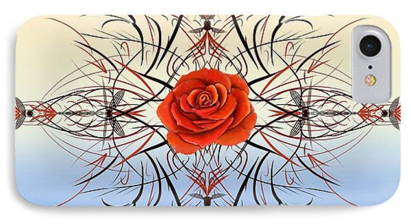 Dragonfly Rose IPhone Case