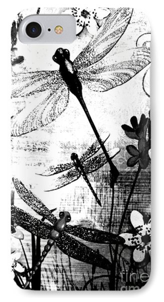Dragonfly IPhone Case by Rose Wang