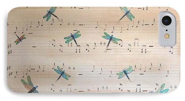 IPhone Case featuring the painting Dragonfly Symphony by Cindy Micklos