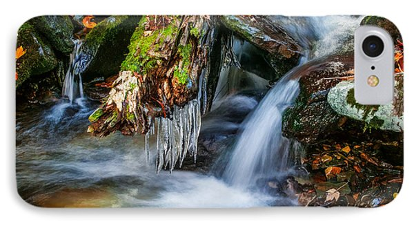 Dragons Teeth Icicles Waterfall Great Smoky Mountains Painted  IPhone Case by Rich Franco