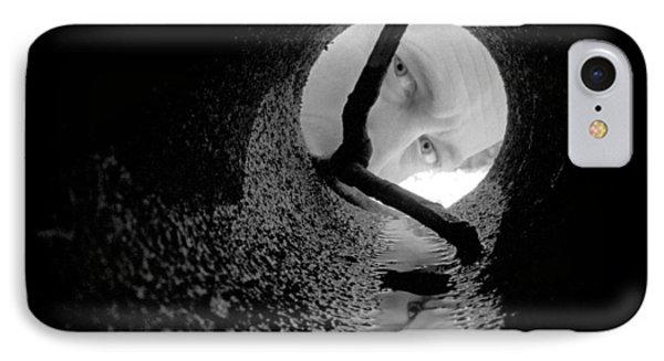 Drain Pipe - Artist Self Portrait Phone Case by Gary Heller