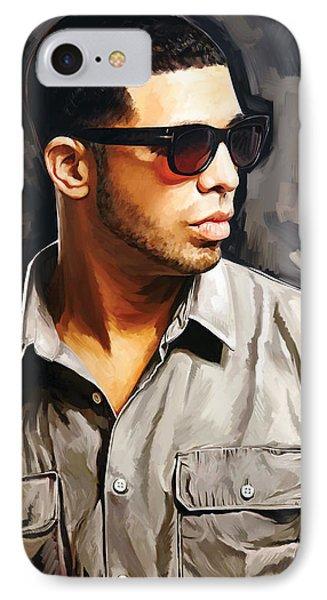 Drake Artwork 2 IPhone Case by Sheraz A