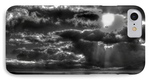 Drama In The Sky II IPhone Case by Richard Stephen