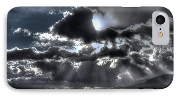 Drama In The Sky IPhone Case by Richard Stephen