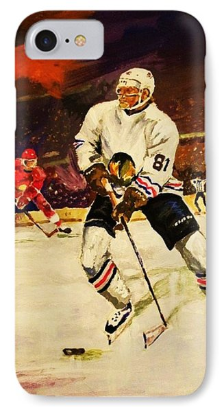 IPhone Case featuring the painting Drama On Ice by Al Brown