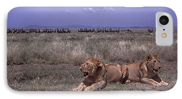 IPhone Case featuring the photograph Drama On The Serengeti by Gary Hall