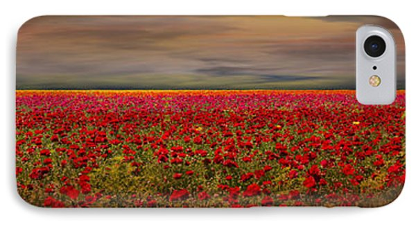 Drama Over The Flower Fields Phone Case by Angela A Stanton