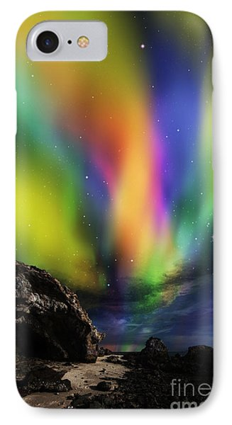 Dramatic Aurora IPhone Case by Atiketta Sangasaeng