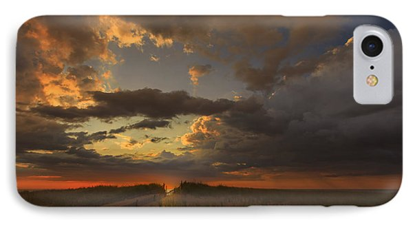 Dramatic Clouds Over Atlantic Ocean IPhone Case