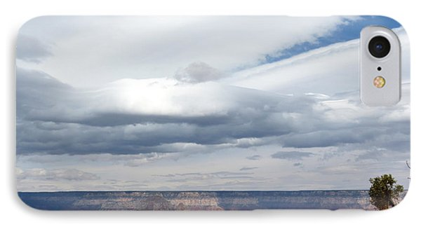 Dramatic Clouds Over The Grand Canyon Phone Case by Laurel Powell
