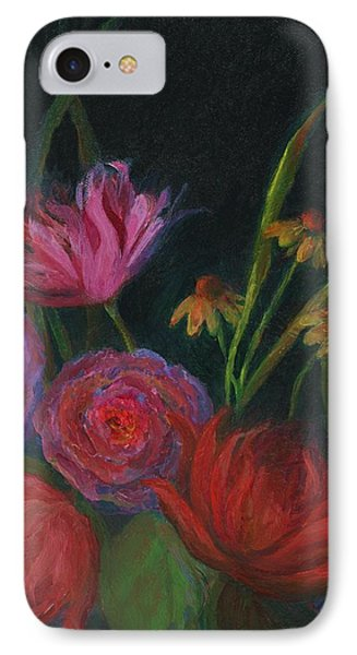 Dramatic Floral Still Life Painting IPhone Case by Mary Wolf