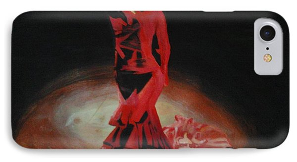 IPhone Case featuring the painting Dramatic In Scarlet by Cherise Foster