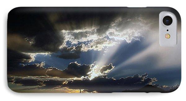 Dramatic Monsoon Sunset IPhone Case by Elaine Malott