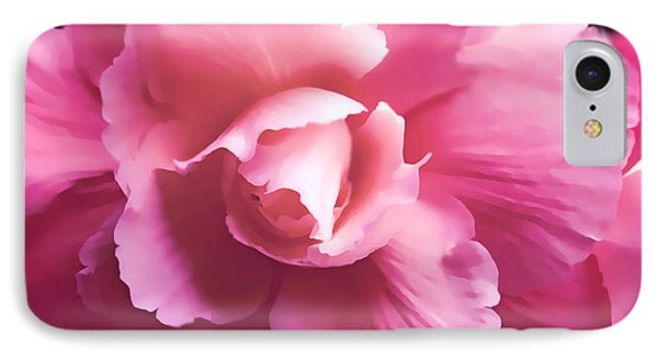 Dramatic Pink Begonia Floral IPhone Case