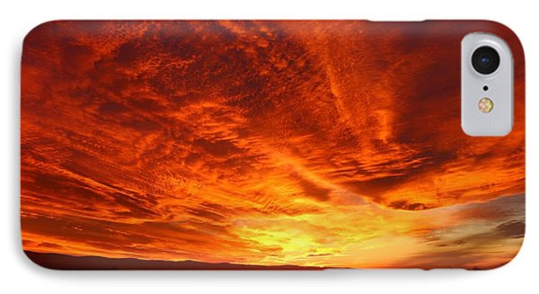 IPhone Case featuring the photograph Dramatic Red Sky by Lynn Hopwood