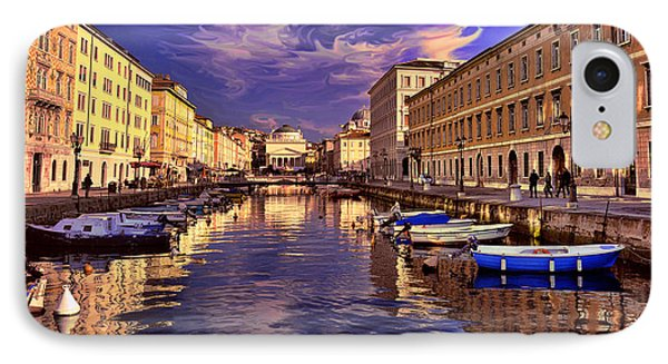 Dramatic Skies Over Trieste IPhone Case by Graham Hawcroft pixsellpix