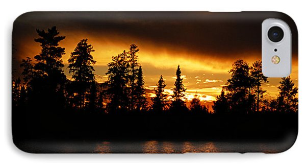 Dramatic Sunset IPhone Case by Larry Ricker