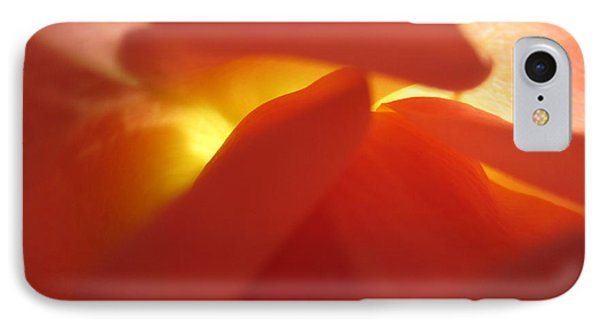 Glowing Orange Rose 2 IPhone Case