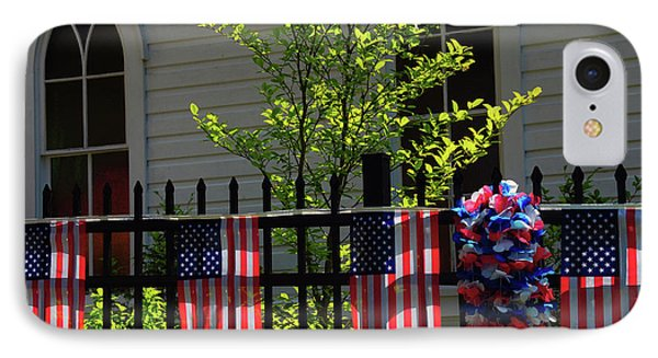 Draped Flags, July 4th, Parade IPhone Case