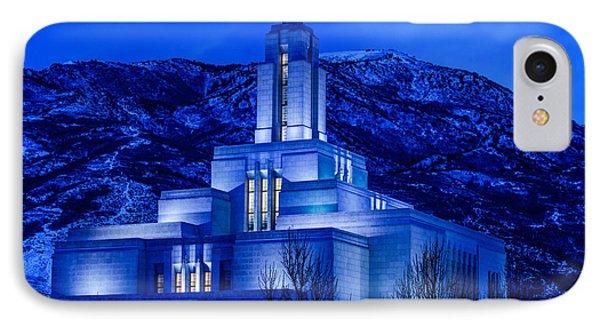 Draper Mormon Lds Temple Winter Dusk IPhone Case by Gary Whitton