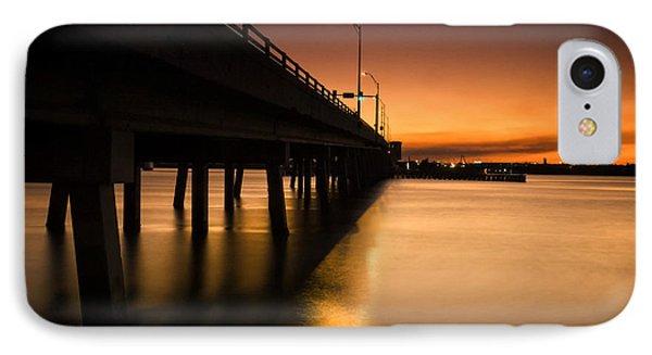 Drawbridge At Sunset IPhone Case by Fran Gallogly