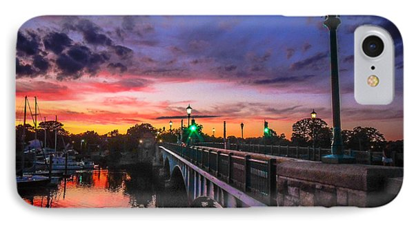 IPhone Case featuring the photograph Drawbridge Sundown  by Glenn Feron