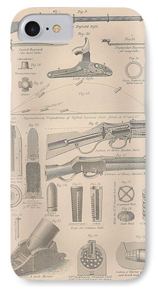 Drawings Of Gun Parts Phone Case by Anon