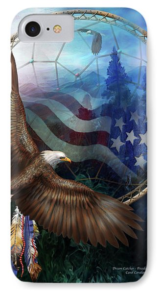 Dream Catcher - Freedom's Flight IPhone Case by Carol Cavalaris