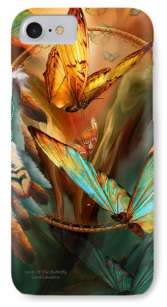 Dream Catcher - Spirit Of The Butterfly Phone Case by Carol Cavalaris