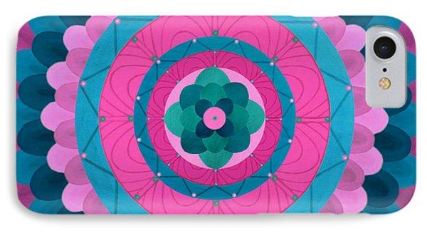 Dream Flower Mandala Phone Case by Vlatka Kelc