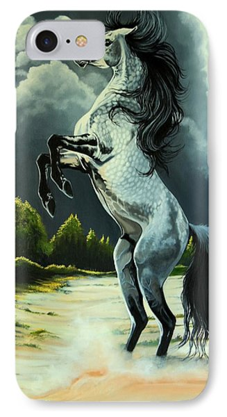 Dream Horse Series 262 - The Lost Stallion Revealed IPhone Case by Cheryl Poland