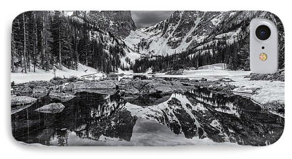 Dream Lake Morning Monochrome IPhone Case by Darren  White