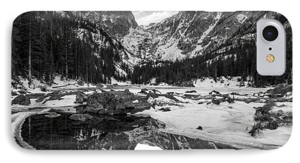 Dream Lake Reflection Black And White Phone Case by Aaron Spong