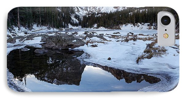 Dream Lake Reflection Square Format Phone Case by Aaron Spong