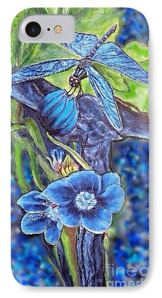 Dream Of A Blue Dragonfly Over Water IPhone Case by Kimberlee Baxter