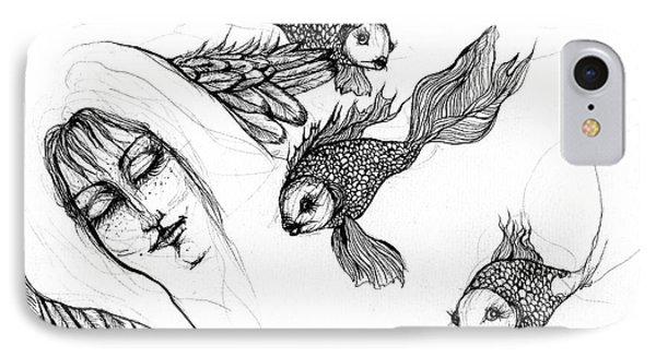 Dream Of Goldfish Phone Case by Angel  Tarantella