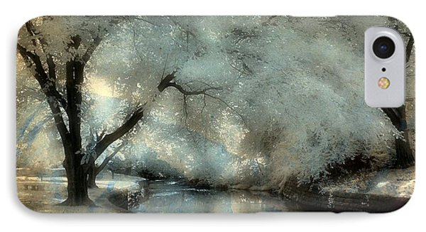 Dreamy Trees By The Stream IPhone Case by Gothicrow Images