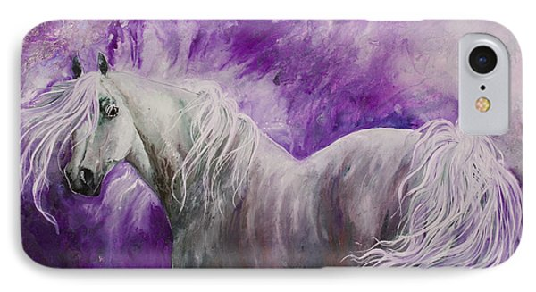 IPhone Case featuring the painting Dream Stallion by Sherry Shipley