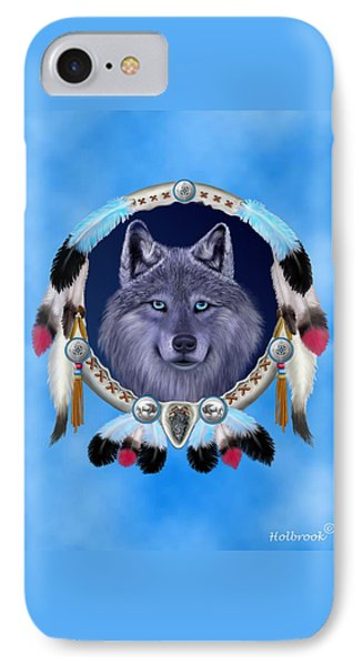 Dream Wolf IPhone Case by Glenn Holbrook