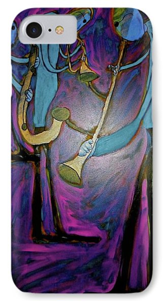 IPhone Case featuring the painting Dreamers 00-001 by Mario Perron